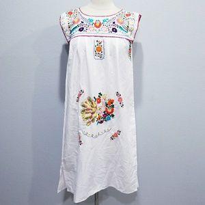 Vintage 80's retro hippie boho summer dress Mexi